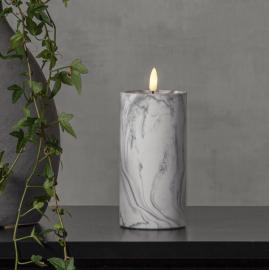 LED Blockljus Flamme Marble 17,5 cm , hemmetshjarta.se