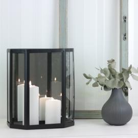 Vägglykta med spegel 28 cm - matt svart , hemmetshjarta.se