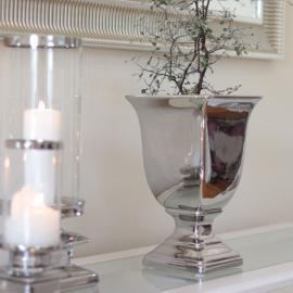 Pokalkruka Lyx silver 30 cm , hemmetshjarta.se