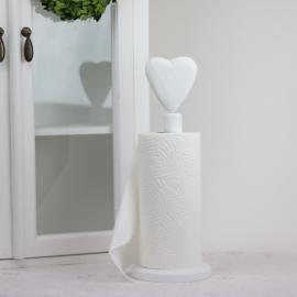 Hushållspappershållare Hjärta - vit , hemmetshjarta.se