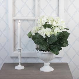 Konstgjord Hortensia 37 cm Vit , hemmetshjarta.se