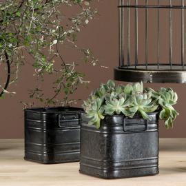 Plant Kvadrat 2-pack 12/10 - svart , hemmetshjarta.se