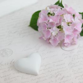 Hjärta skrivbart liten - vit , hemmetshjarta.se