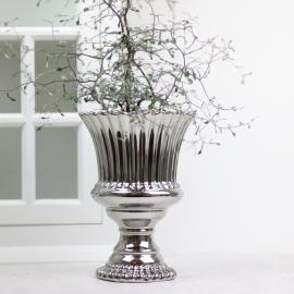 Pokalkruka Lyx silver med vågig kant 23 cm , hemmetshjarta.se