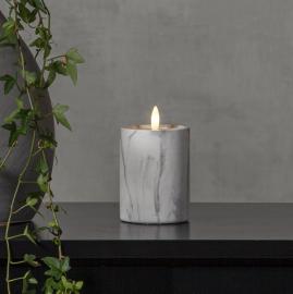 LED Blockljus Flamme Marble 12,5 cm , hemmetshjarta.se