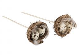 Fågelbo/Stick/Vaktel 6cm 2-pack , hemmetshjarta.se