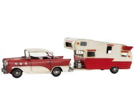 Dekoration Bil & Husvagn Chevy Metall 41 x 10 x 11 cm , hemmetshjarta.se