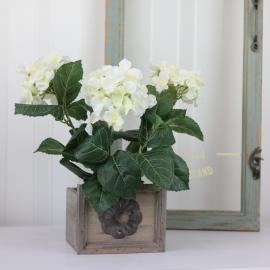 Konstgjord Hortensia 30 cm Vit , hemmetshjarta.se