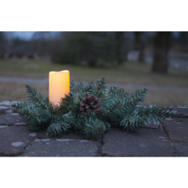 LED Gravljus med granrisdekoration , hemmetshjarta.se