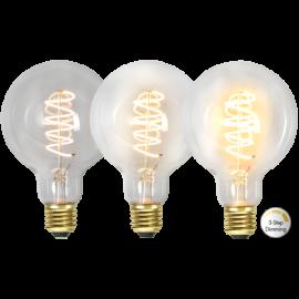 LED-lampa E27 Decoled Spiral Clear G95 Dim 3-step , hemmetshjarta.se
