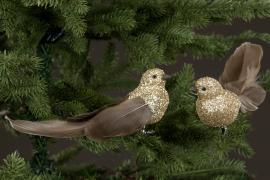 Fågel/Clip Fjäder/Glitter 20cm 2-pack , hemmetshjarta.se