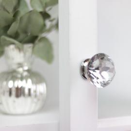 Knopp Diamant med flat topp 5x3 cm - glas , hemmetshjarta.se