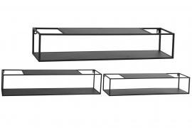 Vägghyllor 3-pack 95 cm - svart , hemmetshjarta.se