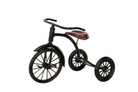 Dekoration Cykel/Trehjuling Svart Metall 25x18x16cm , hemmetshjarta.se