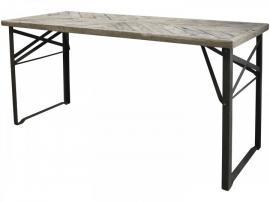 Matbord med träplatta H79.5 / L165 / W66 cm natur , hemmetshjarta.se