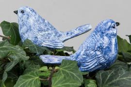 Fågel/Stick Mörkblå Poly 9x4,5x6,5cm 2-pack , hemmetshjarta.se