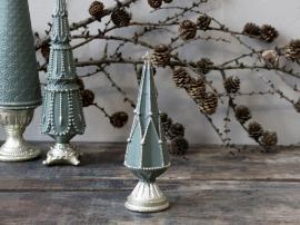 Vecka 44 Julgran med glitter dekoration H17,5 / Ø5,5 cm mossgrön 1 st , hemmetshjarta.se