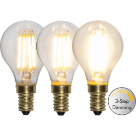 LED-lampa E14 Soft Glow P45 Dim 3-step , hemmetshjarta.se