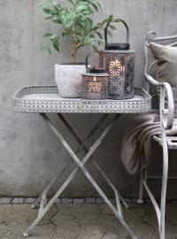 Brickbord med dekorativ kant H59/L54/B39 cm antique zink , hemmetshjarta.se