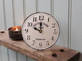 Bordsklocka Ø15,5 cm creme , hemmetshjarta.se