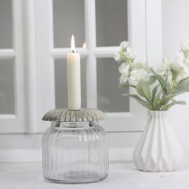 Ljushållare med glasburk 12 cm , hemmetshjarta.se