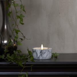 LED Blockljus Flamme Marble 7,5 cm , hemmetshjarta.se