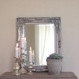 Spegel Antik 53x42 cm - antiksilver , hemmetshjarta.se