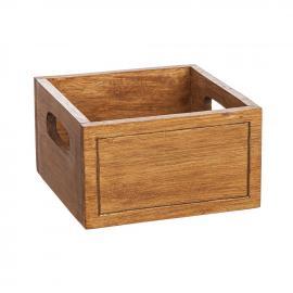 Trälåda 17x17 cm - brun , hemmetshjarta.se