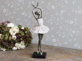 Ballerina dansar H41 cm gl. rosa , hemmetshjarta.se