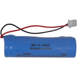 Batteri 18650 3,7V 1500mAh Li-Ion JST-PH 2mm plug , hemmetshjarta.se