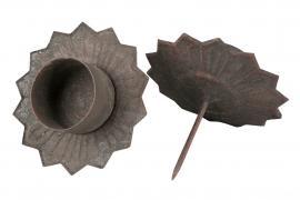 Värmeljushållare Metall Natur 9x4x6cm 4-pack , hemmetshjarta.se