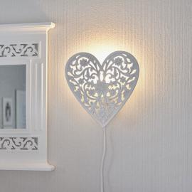 Lampa till vägg Hjärta snidade detaljer , hemmetshjarta.se