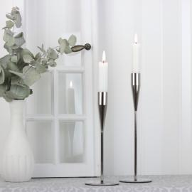 Ljusstake Milla 22 cm - silver , hemmetshjarta.se