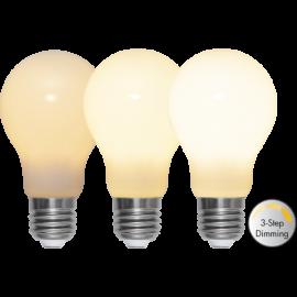 LED-Lampa E27 Ø60 Dim 3-step lm600/48w Frostad Ra90 , hemmetshjarta.se