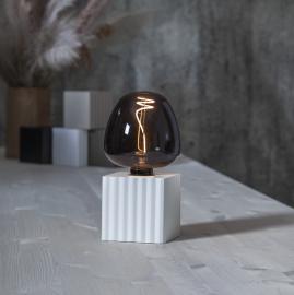 Lampfot E27 Box 10x10 Vit , hemmetshjarta.se