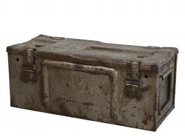 Vecka 40 Grimaud gl. Fransk Ammunitionslåda H20 / L49 / W20 cm antikgrå , hemmetshjarta.se