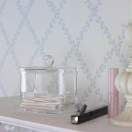 Smink Förvaring Plexiglas Bomullspinnar , hemmetshjarta.se