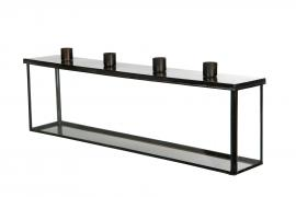 Glasbox med ljushållare 47x8x16cm , hemmetshjarta.se