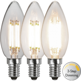 LED-Lampa E14 Ø35 Dim 3-step lm470/40w Clear , hemmetshjarta.se