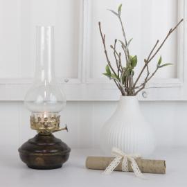 Oljelampa till värmeljus 27 cm - antik brun ** , hemmetshjarta.se