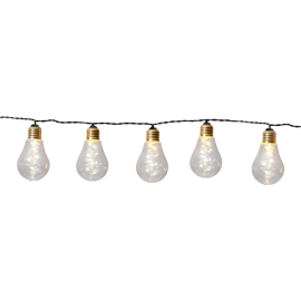 Ljusslinga EL Glow Gul 10 ljus 360cm , hemmetshjarta.se