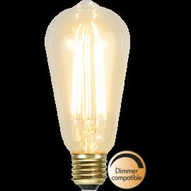LED-lampa E27 Soft Glow ST64 Dim , hemmetshjarta.se