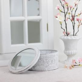 Ask med spegellock - antikvit , hemmetshjarta.se