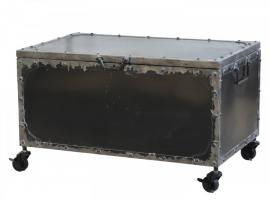 Kista på hjul Järn H39 / L67 / B41,5 cm antik kol , hemmetshjarta.se