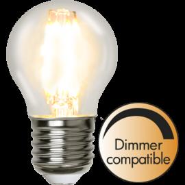 LED-Lampa E27 Ø45 lm420/37w Clear , hemmetshjarta.se