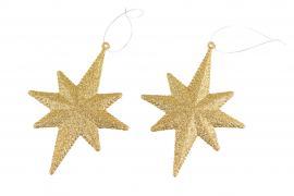 Stjärna Guld 11x15cm 2-pack , hemmetshjarta.se
