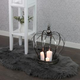 .Konstgjord lammfäll - grå , hemmetshjarta.se