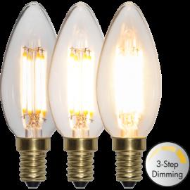 LED-lampa E14 Soft Glow C35 Dim 3-step , hemmetshjarta.se