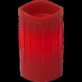 Batteridriven Blockljus LED Drip Röd 7,5x12,5cm , hemmetshjarta.se