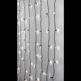 Ljusgardin Utomhus EL Crispy Ice White Vit 80 ljus 130cm , hemmetshjarta.se